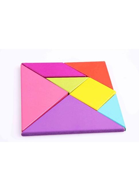 Learning Toys Renkli Ahşap Tangram Renkli